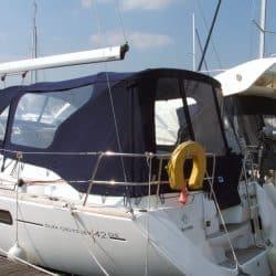 Jeanneau Sun Odyssey 42ds, 2010 onwards, Bespoke Cockpit Enclosure fitted to Tecsew standard Sprayhood_2