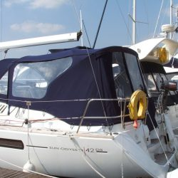 Jeanneau Sun Odyssey 42ds, 2010 onwards, Bespoke Cockpit Enclosure fitted to Tecsew standard Sprayhood_3
