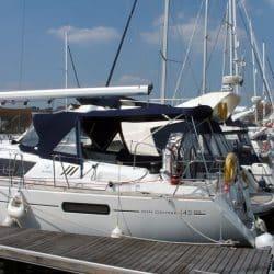 Jeanneau Sun Odyssey 42ds, 2010 onwards, Bespoke Cockpit Enclosure fitted to Tecsew standard Sprayhood_5