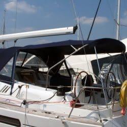 Jeanneau Sun Odyssey 42ds, 2010 onwards, Bespoke Cockpit Enclosure fitted to Tecsew standard Sprayhood_6
