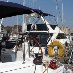 Jeanneau Sun Odyssey 42ds, 2010 onwards, Bespoke Cockpit Enclosure fitted to Tecsew standard Sprayhood_7