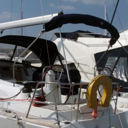 Jeanneau Sun Odyssey 42ds, 2010 onwards, Bespoke Cockpit Enclosure fitted to Tecsew standard Sprayhood_11