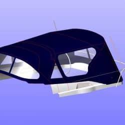 Jeanneau Sun Odyssey 42ds, 2010 onwards, Bespoke Cockpit Enclosure fitted to Tecsew standard Sprayhood_13