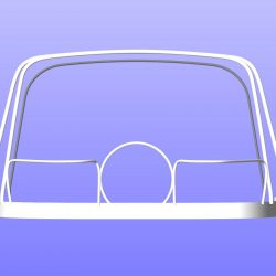 Legend 306 Cockpit Enclosure showing how frames stow_10