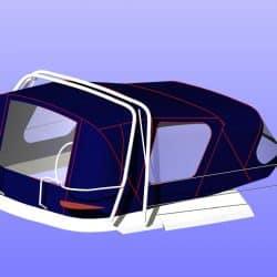 Legend 356 Cockpit Enclosure fitted to CJ Sprayhood_7