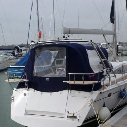 Legend 37, 2014 model, Cockpit Enclosure fitted to Tecsew standard Sprayhood_3