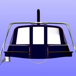 legend 41DS Cockpit Enclosure with zip removable panels and 2 section roof panel_17
