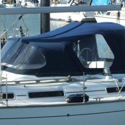 Moody 36 Cockpit Enclosure fitted to CJ Sprayhood_3
