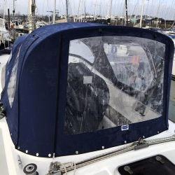 Moody 36 Cockpit Enclosure fitted to fixed screen Sprayhood_3
