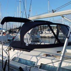 Moody 376 Cockpit Enclosure fitted to Tecsew Sprayhood_6