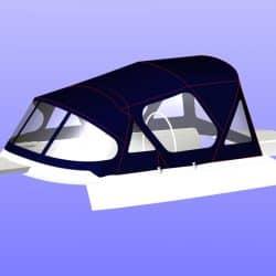 Moody 376 Cockpit Enclosure fitted to Tecsew Sprayhood_8