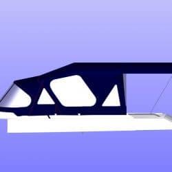 Moody 376 Sprayhood, Cockpit Enclosure and Aft Bimini_24