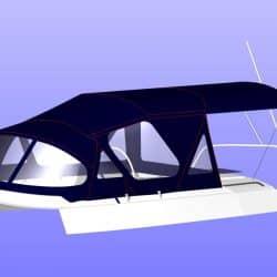 Moody 376 Sprayhood, Cockpit Enclosure and Aft Bimini_25