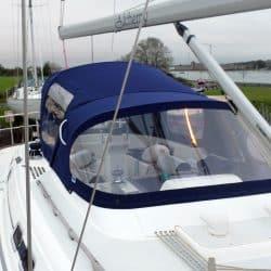 Moody 42 Cockpit Enclosure fitted to Tecsew Sprayhood, ALCHEMY_5