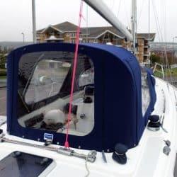 Moody 42 Cockpit Enclosure fitted to Tecsew Sprayhood, ALCHEMY_7