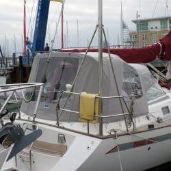 Najad 331 Cockpit enclosure recover for CJ original and Sprayhood recover_3