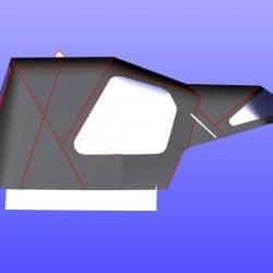 Najad 331 Cockpit enclosure recover for CJ original and Sprayhood recover_6