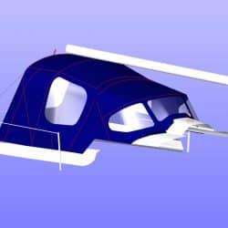 X302 Mk 1 QUICKSTEP, Cockpit Enclosure fitted to Tecsew Sprayhood_7