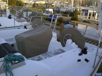 Cockpit Table Cover, standard patterns held for many boat models
