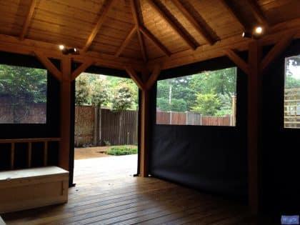 Garden Gazebo panels, square design_5