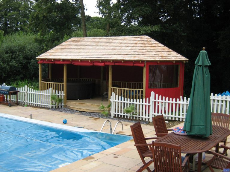 Garden swimming pool gazebo awnings_4