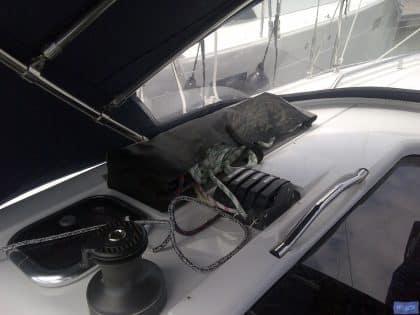 Dehler 38 Cabin top Halyard bags, in Mesh fabric_1