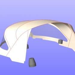 "Arcona 370, ""Arc en Ceil"", New design 3 bar Sprayhood_10"