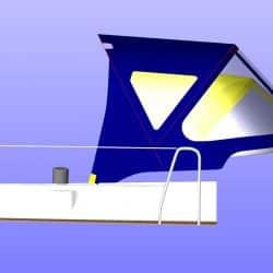 Bavaria 39 Cruiser Sprayhood comparing new design to old_15