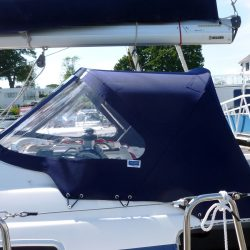 Bavaria 50 Cruiser, Tecsew design larger Sprayhood_4