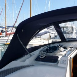 Bavaria 50 Cruiser, Tecsew design larger Sprayhood_5
