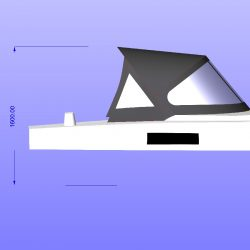Approximate height from cockpit floor
