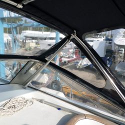Beneteau 57 Sprayhood, showing optional roof bars and support struts_7
