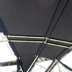 Beneteau 57 Sprayhood, showing optional roof bars and support struts_8
