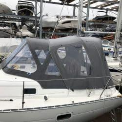 Beneteau Oceanis 361 Sprayhood showing optional Cockpit Enclosure