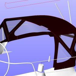Beneteau Oceanis 361, Sprayhood recover, revamped design_7