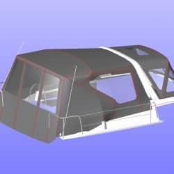 Beneteau Oceanis 38.1 Sprayhood shown with optional Cockpit Enclosure_5