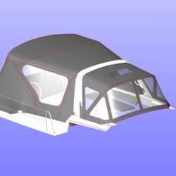 Beneteau Oceanis 38.1 Sprayhood shown with optional Cockpit Enclosure_4