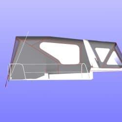 Beneteau Oceanis 38.1 Sprayhood shown with optional Cockpit Enclosure_3