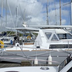 Beneteau Oceanis 38 Sprayhood shown with optional Bimini_2