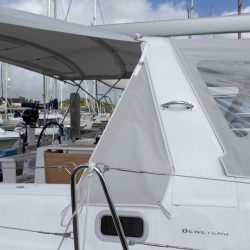 Beneteau Oceanis 38 Sprayhood shown with optional Bimini_3