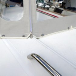 Beneteau Oceanis 38 Sprayhood shown with optional Bimini_4