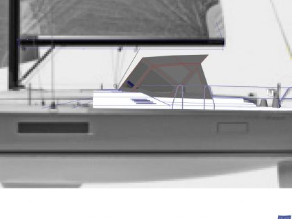 Beneteau Oceanis 51.1, model with NO ARCH, Sprayhood_11