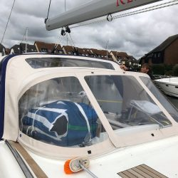 Discovery 48 Sprayhood and Arch Infill Panel_2