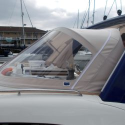 Discovery 48 Sprayhood and Arch Infill Panel_4