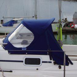 Elan 333, 2004 model, Sprayhood, Design 2, Wild Blue_1
