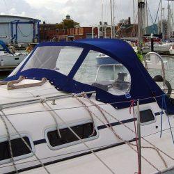 Elan 333, 2004 model, Sprayhood, Design 2, Wild Blue _2