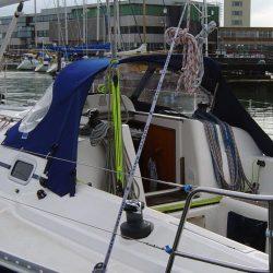 Elan 333, 2004 model, Sprayhood, Design 2, Wild Blue _3
