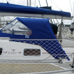 Etap 34s Sprayhood, ESPRIT with optional welded grab bar, wing pockets and roll up front window_2