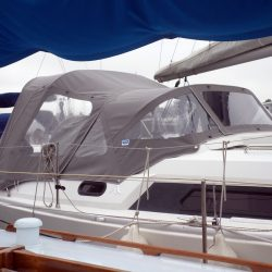Hanse 320 Sprayhood recover for factory fit original shown with optional Cockpit Enclosure