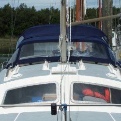 Hirondelle Catamaran, Harmony Sprayhood recover_1